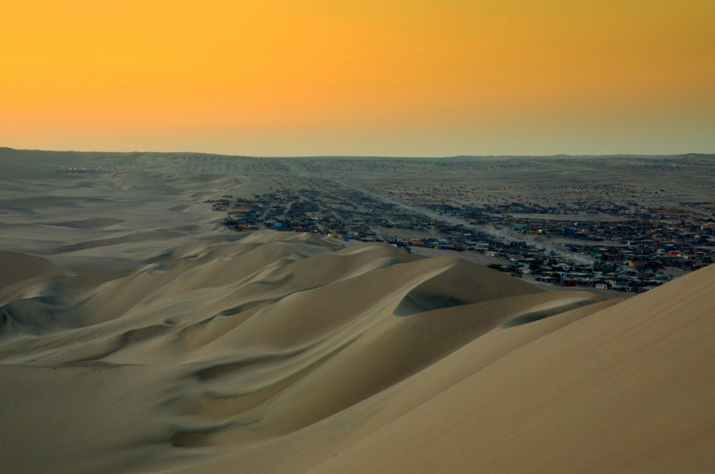 cool landscape of desert