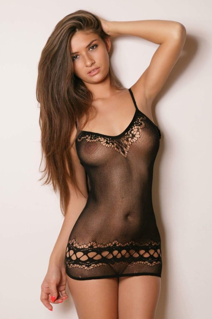 hot mesh lingerie girls